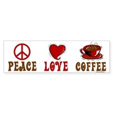 Peace Love Coffee 1 Bumper Bumper Sticker