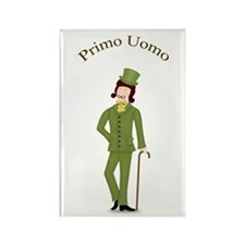 Brunette Primo Uomo in Green Rectangle Magnet