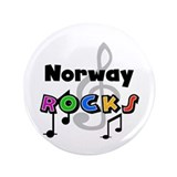 "Norway Rocks 3.5"" Button (100 pack)"