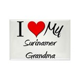 I Heart My Surinamer Grandma Rectangle Magnet