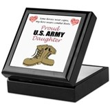 Proud US Army Daughter Keepsake Box