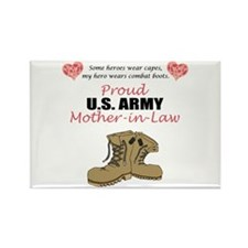 Proud US Army Mother-In-Law Rectangle Magnet (10 p