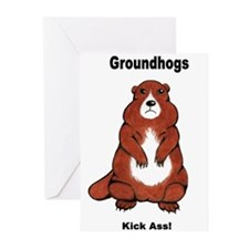 Groundhogs Kick Ass Greeting Cards (Pk of 20)
