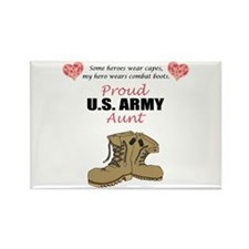 Proud US Army Aunt Rectangle Magnet