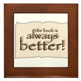 Book is Better Framed Tile