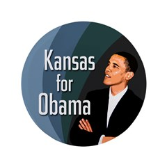 Kansas for Barack Obama Big Button