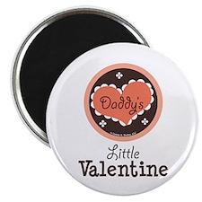 """Pink Brown Daddy's Little Valentine 2.25"""" Magnet ("""