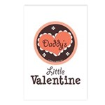 Pink Brown Daddy's Little Valentine Postcards (Pac