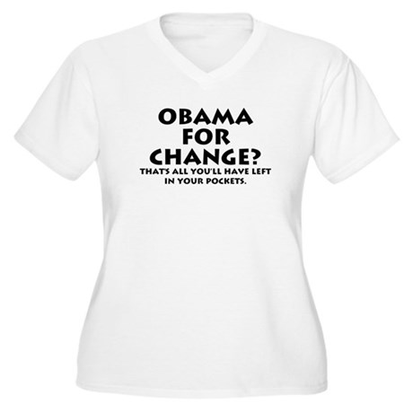 Anti-Obama Women's Plus Size V-Neck T-Shirt