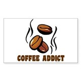 Coffee Addict 1 Rectangle Decal