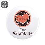 Pink Brown Grandma's Little Valentine 3.5