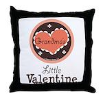 Pink Brown Grandma's Little Valentine Throw Pillow