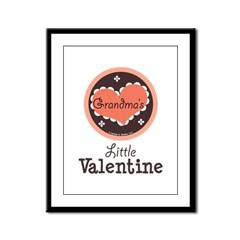 Pink Brown Grandma's Little Valentine Framed Panel