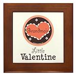 Pink Brown Grandma's Little Valentine Framed Tile