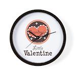 Pink Brown Grandma's Little Valentine Wall Clock
