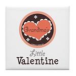 Pink Brown Grandma's Little Valentine Tile Coaster