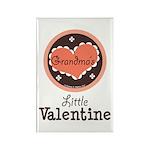 Pink Brown Grandma's Little Valentine Rectangle Ma