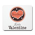 Pink Brown Grandma's Little Valentine Mousepad