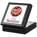 Pink Brown Grandma's Little Valentine Keepsake Box