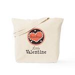 Pink Brown Grandma's Little Valentine Tote Bag
