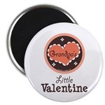 Pink Brown Grandpa's Little Valentine Magnet
