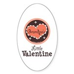 Pink Brown Grandpa's Little Valentine Sticker (Ova