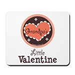 Pink Brown Grandpa's Little Valentine Mousepad