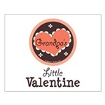 Pink Brown Grandpa's Little Valentine Small Poster