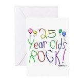 25 Year Olds Rock ! Greeting Cards (Pk of 20)
