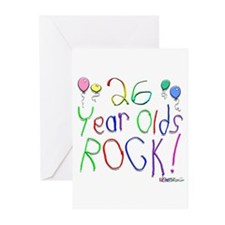 26 Year Olds Rock ! Greeting Cards (Pk of 20)