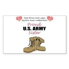 Proud US Army Sister Rectangle Decal