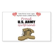 Proud US Army Girlfriend Rectangle Decal