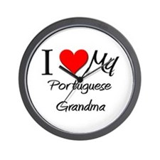 I Heart My Portuguese Grandma Wall Clock