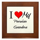 I Heart My Peruvian Grandma Framed Tile