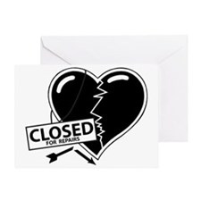 Closed For Repairs Heart Greeting Card