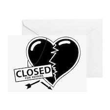 Closed For Repairs Heart Greeting Card