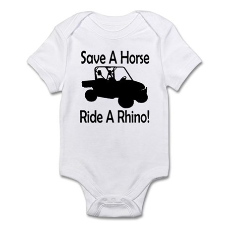 Save A Horse Ride A Rhino Infant Bodysuit