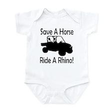 Save A Horse Ride A Rhino Infant Bodysuit