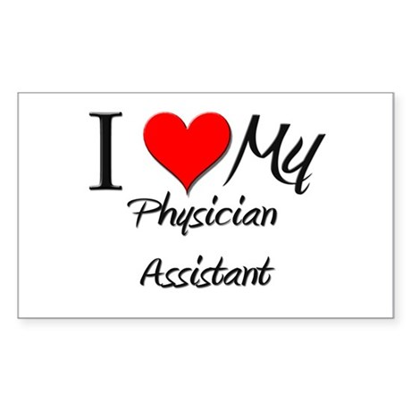 I Heart My Physician Assistant Sticker (Rectangula