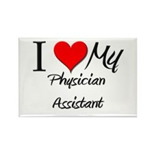 I Heart My Physician Assistant Rectangle Magnet