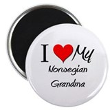 "I Heart My Norwegian Grandma 2.25"" Magnet (10 pack"