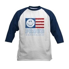 Smiley Face Proud American Tee
