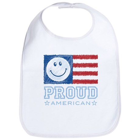Smiley Face Proud American Bib