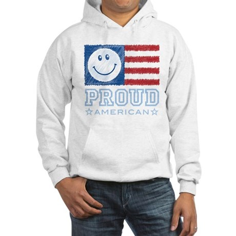 Smiley Face Proud American Hooded Sweatshirt