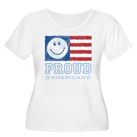 Smiley Face Proud American Women's Plus Size Scoop