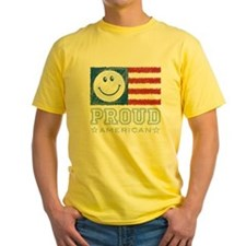 Smiley Face Proud American T