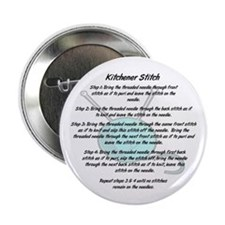 "Kitchener Stitch 2.25"" Button (100 pack)"