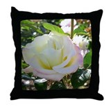 Single white rose of sincerity Throw Pillow
