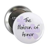 Lilac Flowers Matron of Honor Button