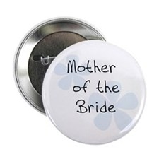 Mother of the Bride Blue Flowers Button